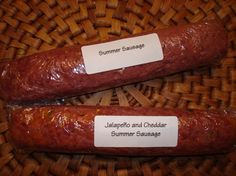 Photo by wwltmom Spicy Summer Sausage. Photo by wwltmom Venison Summer Sausage Recipe, Homemade Summer Sausage, Summer Sausage Recipes, Homemade Sausage Recipes, Venison Recipes, Smoker Recipes, Moose Recipes, Sausage Meals, Jerky Recipes