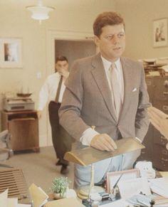 JFK & Pierre Salinger 1961                                                                                                                                                                                 More