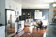 Amazing kitchen/living room renovation via the super talented @Mandi Gubler !!  Love every last detail!