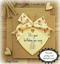 Birthday Card Funny Handmade Greeting Fox Themed Cards For Him