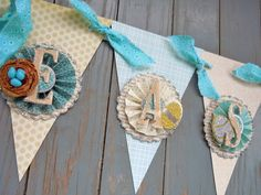 Pretty nest banner for Easter & spring decor