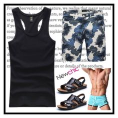 """""""Newchic17"""" by merisa-imsirovic ❤ liked on Polyvore featuring men's fashion and menswear"""