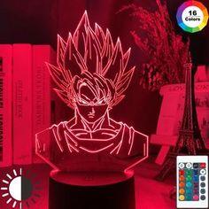 Goku Super, Super Saiyan, Dragon Ball Z Goku, Lampe 3d, 3d Light, Acrylic Panels, Led Night Light, Night Lights, Cute Toys