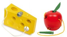 Awesome toys to build fine motor skills and hand to eye coordination. Bonus: They're made of wood!