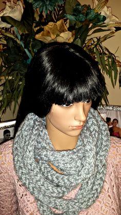 Crochet Infinity Scarf Pattern, Crochet Patterns, Chunky Infinity Scarves, I Cord, Crocheting, Shop, Etsy, Beauty, Fashion