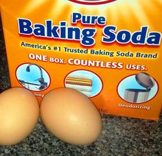 Did you know that adding 1/2 to 1 teaspoon of baking soda to the water makes hard boiled eggs easier to peel? I tried it and it works. For quick process add to a bowl, cover the eggs with water, cover and shake to peel off the shell.