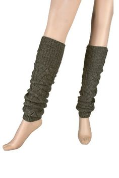 Charcoal Grey Loose Knit Cuff Top Wool Legwarmers