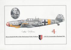 DIN A4 originale Signatur Krieg Jagdflieger Wolfrum Flugzeug Luftwaffe SELTEN! in Sammeln & Seltenes, Militaria, 1918-1945 | eBay