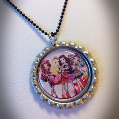Ever After High Bottlecap Necklace or by TwistedDreamsJewelry, $5.00