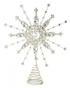 Small Steampunk Tree Topper - Snowflake Gears, shown in Brass ...