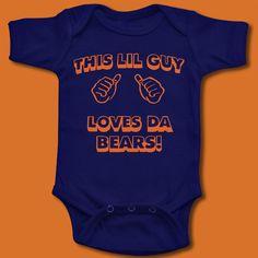 Chicago Bears T Shirt Baby Boys Onesie Guy Loves Da Bears Ditka Sweater Vest | eBay