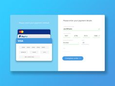 Day 002 - Credit Card Checkout by Joe Williams