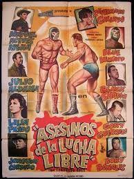 Vintage lucha libre poster