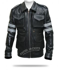 $199.00- Resident Evil 6 Leather Jacket for sale, Also available Leon Kennedy Jacket Costume at AngelJackets online shop.