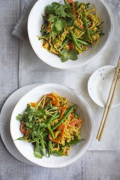 One Pan Singapore Noodles...A quick fix dinner that packs a flavour punch! Recipe from Eat.Live.Go. | DonalSkehan.com