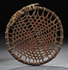 Sioux Wood Hide and Cloth Game Wheel | Sale Number 2596B, Lot Number 141 | Skinner Auctioneers