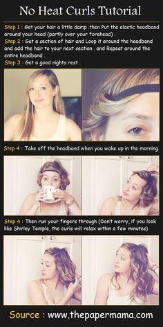 No Heat Curls Hair Tutorial | Beauty Tutorials