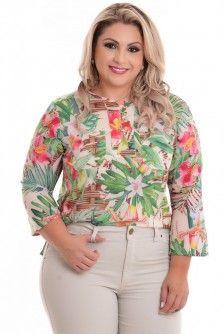 Blusa Plus Size Verão Florido