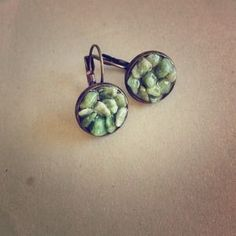 I just added this to my closet on Poshmark: Canadian Jade Cluster Earrings green jade earring. Price: $20 Size: OS
