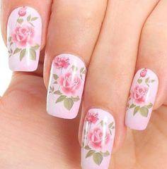 Rose nails #nailart #vintagenails