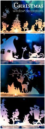 Crafts For Adults DIY Printable Christmas Window Decorations. Cut, print and decorate your windows with silhouettes of a winter wonderland! Fun Christmas craft for adults and kids. Christmas Crafts For Adults, Christmas Activities, Christmas Printables, Winter Christmas, Holiday Crafts, Holiday Fun, Christmas Holidays, Christmas Gifts, Christmas Ornaments