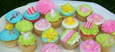 Spring Cupcakes - Directions on how to do each one from My Cake School
