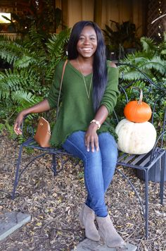Pumpkins and Sweaters for Fall