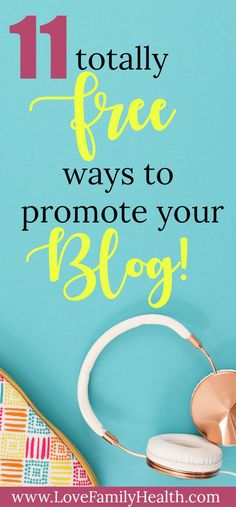 11 ways to promote your blog for free! Increase your blog traffic! #blogging #increaseblogtraffic