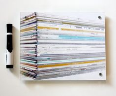 Vinyl Record Stack Dry Erase Board by Blue Order