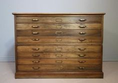 Edwardian Antique Walnut Plan Chest