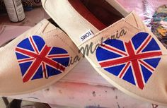 Love union jack TOMS shoes by ValeriaMalariaArt on Etsy, $80.00