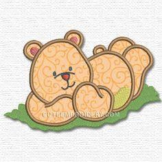Free Embroidery Design: Bear - I Sew Free