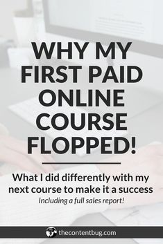 When I created my first online course, I thought it was going to be easy. So after spending hours creating what I thought was the best paid online course, I was heartbroken when it flopped! The second time around, I swore I was going to do things differen Make Money Blogging, Make Money Online, How To Make Money, Online College, Learn Online, Online Cash, Tips Online, Blogging Ideas, Tips