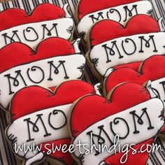 rock n roll baby shower | Sweet Shindigs: Mom Heart Tattoo Cookies