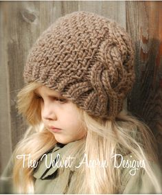KNITTING PATTERN Greyre Cloche' Toddler Child von Thevelvetacorn