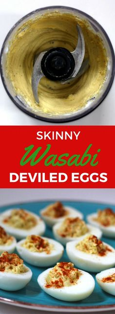 This easy skinny twists to the classic deviled eggs recipe will make a perfect appetizer for your Easter party! No mayo is used yet this spicy wasabi deviled egg is still rich and creamy. Includes step-by-step instructions on how to make this recipe using the Ninja Master Prep tool for a simple, fast, and perfect creamy consistency.