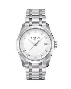 Tissot Special Edition Couturier Women's Diamonds White Quartz Watch, 32mm