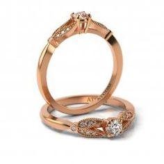 Inel de logodna aur roz model Chatedral