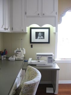 Interesting Sewing Room Tables: Traditional Home Office Sewing Table In Laundry Room Pullout Sewing Table At Corner ~ aureasf.com Contemporary Home Designs Inspiration