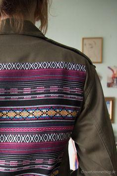 Upcycled old military jacket   naehzimmerblog.de