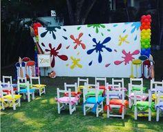 Ideas, decoration and crafts for parties: theme party art party Artist Birthday, Birthday Painting, Art Themed Party, Art Party, Paintball Party, Paint Themes, Rainbow Art, Preschool Art, Art Classroom