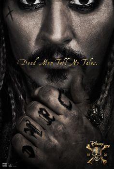 'Piratas do Caribe 5: A Vingança de Salazar', o Capitão Jack Sparrow (Johnny Depp), passa..