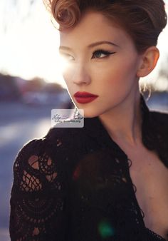 haley bennett pinup makeup