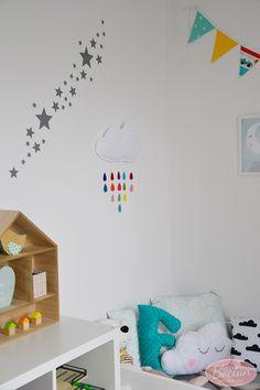 Pokój dwulatka - chmurki, gwiazdki i kolory
