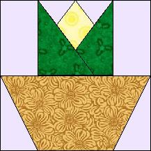 Block of the Day for September 5, 2015 - Tiny Tulip Basket