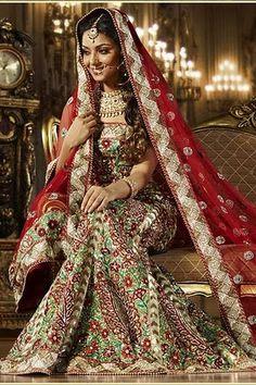 gorgeous Indian wedding dress, lehenga choli