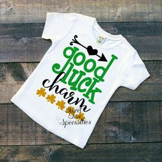 Good Luck Charm Boys St. Patricks Day Shirt by SweetTeaSpecialties