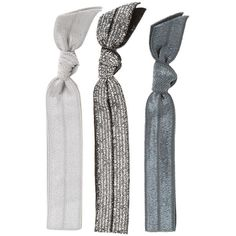 Emi-Jay 'Silver Glitter' Hair Ties ($3.90) ❤ liked on Polyvore featuring costumes, fillers, hair accessories, accessories, hair, hair ties, snowflake halloween costume, black halloween costumes, silver halloween costume and sports costumes
