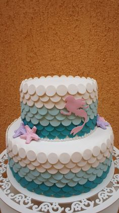 The Little Mermaid Birthday Party Ideas / Festa A Pequena Sereia Ariel / Bolo Cenográfico Cupcakes, Cupcake Cakes, Cake Cookies, Frosty Recipe, Little Mermaid Cakes, Fake Cake, Mermaid Parties, Ice Cream Party, Mermaid Birthday
