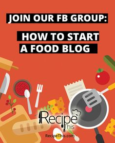"""""""How to start a food blog Facebook Group"""" is now live if you're a food blogger or plan to be then come and join the party!"""